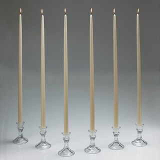 Ivory Taper Candles 24 Inch Tall Set Of 12