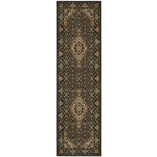 "Nourison Persian Arts Black Area Rug (2'3 x 12') - 2'3""x12'"