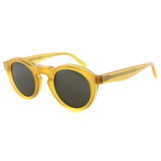 Celine CL 41370 Bevel PD9 Honey Plastic Round Sunglasses Brown Lens
