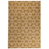 M.A.Trading Hand-Tufted Indo Normandie Gold Rug - 7'10 x 9'10
