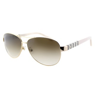 Kate Spade KS Dalia W89 Gold Metal Aviator Sunglasses Brown Gradient Lens