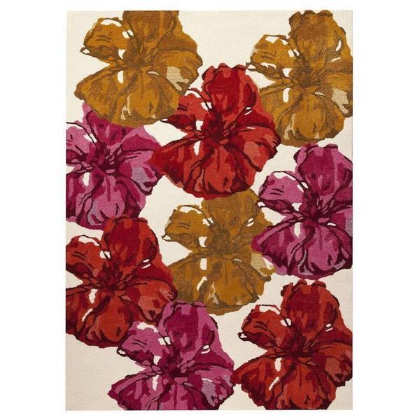 Handmade M.A.Trading Indo Fauna Spring Rug (7'10 x 9'10) (India)