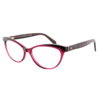 Kate Spade KS Steffi W50 Pink Animal Plastic Cat-Eye Eyeglasses 52mm