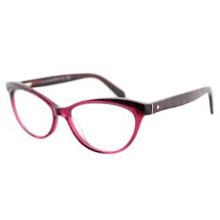 Kate Spade KS Steffi W50 Pink Animal Plastic Cat-Eye Eyeglasses 52mm