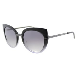 Marc by Marc Jacobs MMJ 489 LR1 Black Shaded Grey Plastic Cat-Eye Sunglasses Grey Gradient Lens