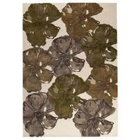 Handmade M.A.Trading Indo Fauna Fall Rug (7'10 x 9'10) (India)