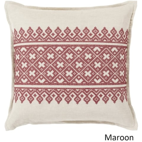 Decorative Even 22-inch Feather Down or Poly Filled Throw Pillow