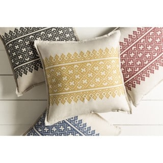 Decorative Even 22-inch Down or Poly Filled Throw Pillow