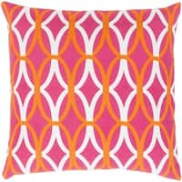 Decorative Gage 22-inch Feather Down or Poly Filled Throw Pillow