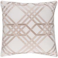 Decorative Eilat 22-inch Feather Down or Poly Filled Throw Pillow