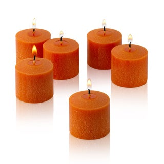 Orange Unscented Votive Candles Set of 12 Burn 10 Hours