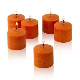 Orange Unscented Votive Candles Set of 12 Burn 10 Hours
