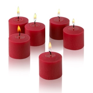 Red Unscented Votive Candles Set of 12 Burn 10 Hours