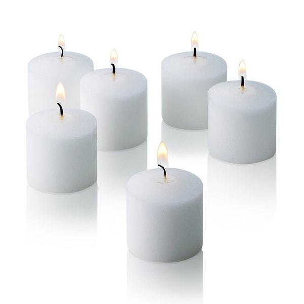 White Jasmine Scented Votive Candles Set of 72 Burn 10 Hours