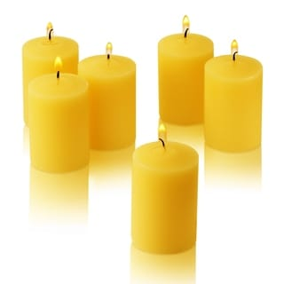 Citronella Yellow Scented Votive Candles Set of 36 Burn 15 Hours