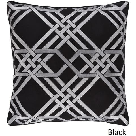 Decorative Eilat 20-inch Feather Down or Poly Filled Throw Pillow