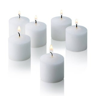 White Jasmine Scented Votive Candles Set of 12 Burn 10 Hours