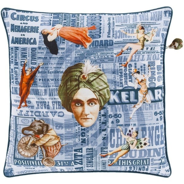 Decorative Cillian 20-inch Feather Down or Poly Filled Throw Pillow