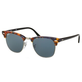 Ray-Ban Clubmaster RB 3016 1158R5 Spotted Blue Havana Clubmaster Plastic Sunglasses - 51mm