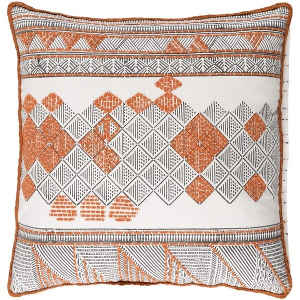 Decorative Gavin 18-inch Feather Down or Poly Filled Throw Pillow