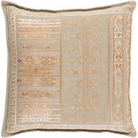 Decorative Fort Worth 18-inch Feather Down or Poly Filled Throw Pillow