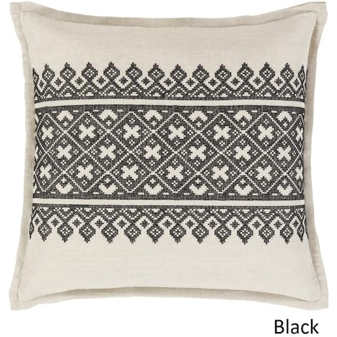 Decorative Even 18-inch Feather Down or Poly Filled Throw Pillow