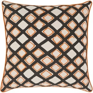 Decorative Ethan 18-inch Down or Poly Filled Throw Pillow
