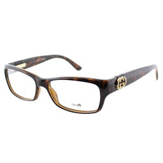 Gucci Womens GG 3773/U Z3Q Havana Plastic Rectangle Eyeglasses-53mm