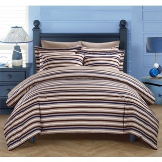 Chic Home Vasler Brown 9-Piece Duvet Cover Bed in a Bag with Sheet Set