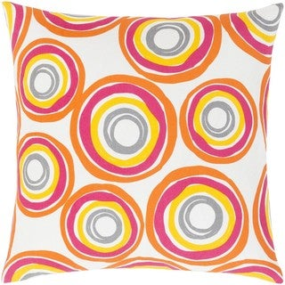 Decorative Frieda 18-inch Down or Poly Filled Throw Pillow