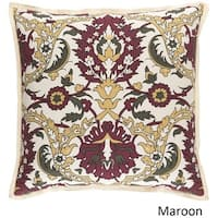 Decorative Ellijay 18 Inch Feather Down Or Poly Filled Throw Pillow Overstock 11586236