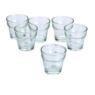 Clear Glass Flower Pot Votive Candle Holders (Case of 36)
