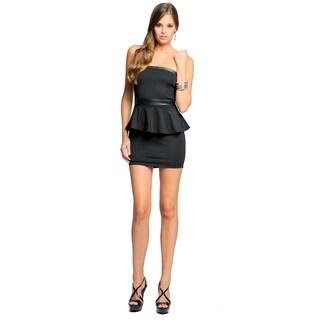 Sara Boo Women's Short Peplum Belted Dress