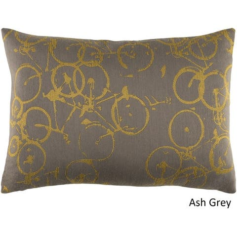 Decorative Leslie Feather Down or Poly Filled Throw Pillow (13 x 19)