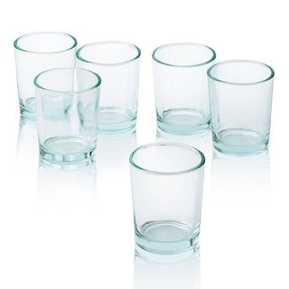 Clear Glass Round Votive Candle Holders (Set of 12)