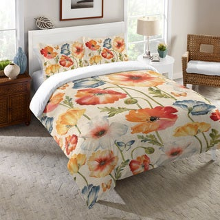 Laural Home Colorful Poppies Comforter