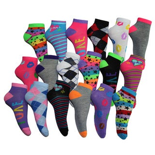 Women's Frenchic No Show  Socks (Pack of 18 Pairs)