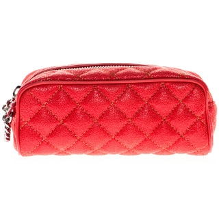 Stella McCartney Falabella Red Quilted Cosmetic Pouch