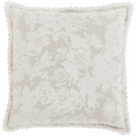 Decorative Charleigh 22-inch Feather Down or Poly Filled Throw Pillow