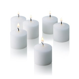 White Unscented Votive Candles Set of 72 Burn 10 Hours