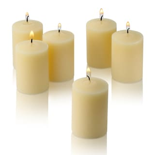 Ivory Unscented Votive Candles Set of 36 Burn 15 Hours