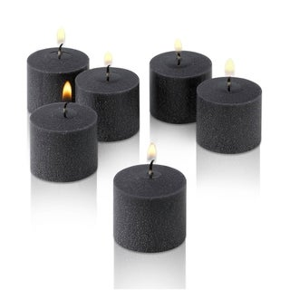 Black Unscented Votive Candles Set of 36 Burn 10 Hours