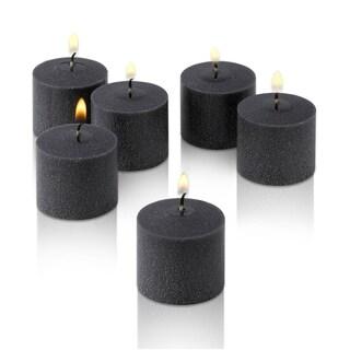 Black Unscented Votive Candles Set of 36 Burn 10 Hours