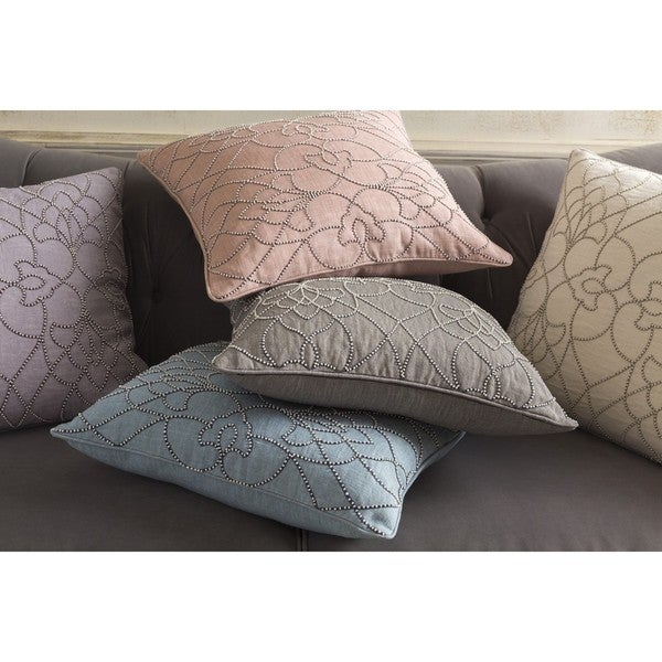 Decorative Feng 20-inch Feather Down or Poly Filled Throw Pillow
