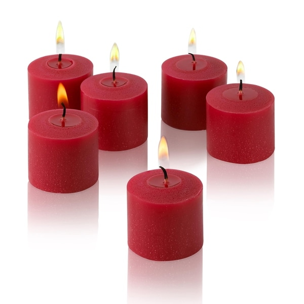 Red Unscented Votive Candles Set of 36 Burn 10 Hours