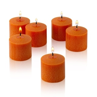 10 Hour Orange Unscented Votive Candles Set of 36