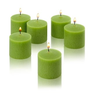Lime Green Unscented Votive Candles Set of 12 Burn 10 Hours
