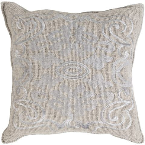 Decorative Clarita 20-inch Feather Down or Poly Filled Throw Pillow