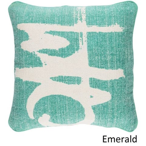 Decorative Castr 20-inch Feather Down or Poly Filled Throw Pillow