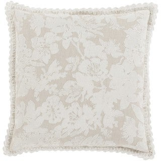 Decorative Charleigh 18-inch Feather Down or Poly Filled Throw Pillow